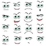 Cartoon faces Royalty Free Stock Photo