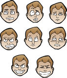 Cartoon faces male Royalty Free Stock Photography