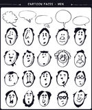 Cartoon faces- men Royalty Free Stock Image