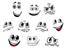 Cartoon faces set Royalty Free Stock Photography