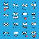 Cartoon faces set Stock Image
