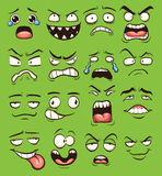 Cartoon faces Stock Photography
