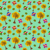 Cartoon fairies seamless background design Royalty Free Stock Photography