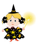 Cartoon fairy. Cartoon funny fairy illustration royalty free illustration