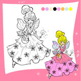 Cartoon fairy  coloring page Royalty Free Stock Photo