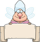 Cartoon Fairy Godmother Banner Stock Photography