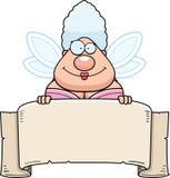 Cartoon Fairy Godmother Banner Stock Photography