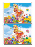 Cartoon fairy princess - isolated - searching exercise for children Royalty Free Stock Photography