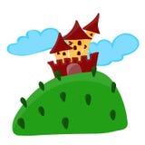 Cartoon fairy tale castle vector illustration