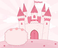 Cartoon fairy tale castle background Stock Image