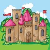 Cartoon fairy tale castle Stock Images