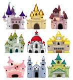 Cartoon Fairy tale castle icon. Drawing Royalty Free Stock Image