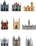 Cartoon Fairy tale castle icon Stock Photo