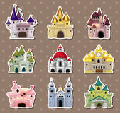 Cartoon Fairy tale castle stickers Royalty Free Stock Images