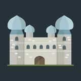 Cartoon fairy tale castle tower icon cute architecture fantasy house fairytale medieval and princess stronghold design Royalty Free Stock Photos