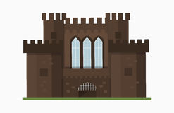 Cartoon fairy tale castle tower icon cute architecture fantasy house fairytale medieval and princess stronghold design Royalty Free Stock Photography