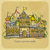 Cartoon fairy-tale castle. Vector illustration Stock Images