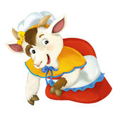 Cartoon fairy tale character for different usage - kneeling and doing something Stock Images