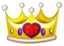 Cartoon fairy tale element - crown Royalty Free Stock Photography