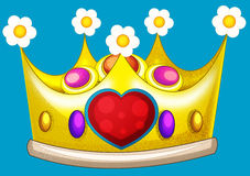 Cartoon fairy tale element - crown Royalty Free Stock Images