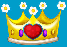 Cartoon fairy tale element - crown - isolated Stock Image