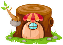 Cartoon fairy tale house stock illustration