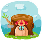 cartoon fairy tale house vector illustration