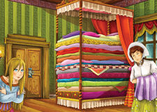 Cartoon fairy tale - illustration for the children Royalty Free Stock Photography