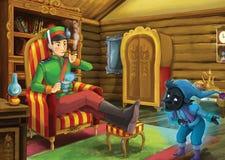 Cartoon fairy tale - illustration for the children Stock Image