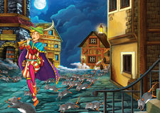 Cartoon fairy tale - illustration for the children Royalty Free Stock Photos