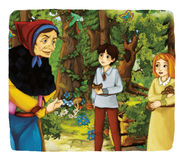 Cartoon fairy tale - illustration for the children Royalty Free Stock Image