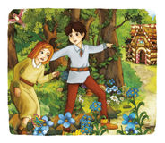 Cartoon fairy tale - illustration for the children Royalty Free Stock Images
