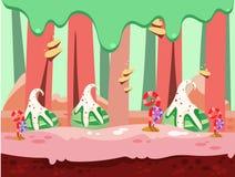 illustration of fantasy sweet food land Stock Image