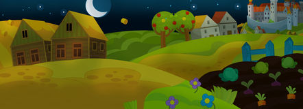 Cartoon fairy tale scene for animation or other royalty free illustration