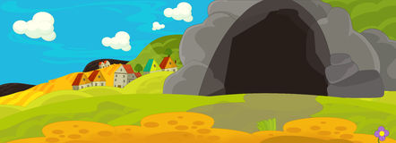 Cartoon fairy tale scene for animation or other Stock Photography