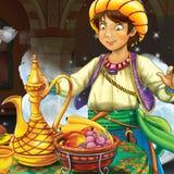 Cartoon fairy tale scene Royalty Free Stock Photography