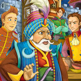 Cartoon fairy tale scene Stock Image