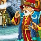 Cartoon fairy tale scene Royalty Free Stock Image