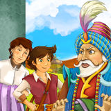 Cartoon fairy tale scene Stock Photography