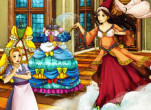 Cartoon fairy tale scene for different stories Stock Photo