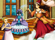 Cartoon fairy tale scene for different stories Royalty Free Stock Photo