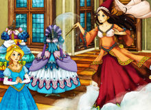 Cartoon fairy tale scene for different stories Royalty Free Stock Photography