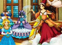 Cartoon fairy tale scene for different stories Stock Photos