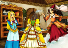 Cartoon fairy tale scene for different stories Stock Photography