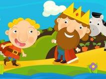 Cartoon fairy tale scene Royalty Free Stock Images