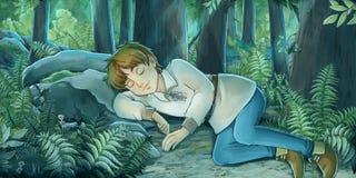 Cartoon fairy tale scene Stock Images