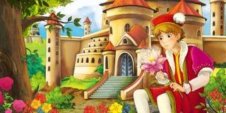 Cartoon fairy tale scene Stock Photos