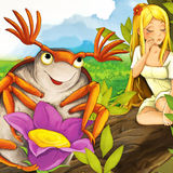 Cartoon fairy tale scene - illustration for the children Stock Images