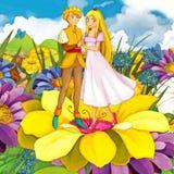 Cartoon fairy tale scene - illustration for the children Royalty Free Stock Image