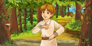 Cartoon fairy tale scene - illustration for the children Royalty Free Stock Photos